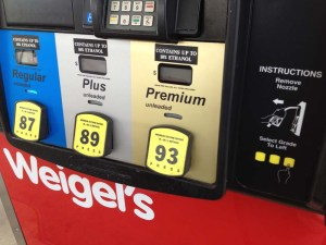 A nudge toward paying for premium gas.